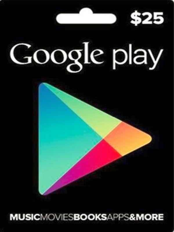 google play  cartão 25 dólares  usa  on cards